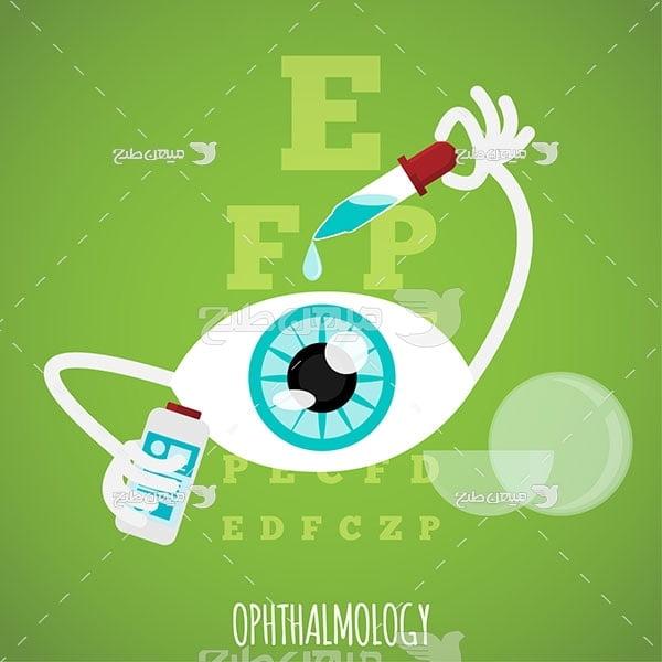 وکتور درمان چشم