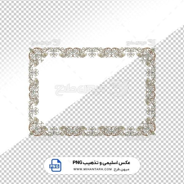 عکس برش خورده اسلیمی و تذهیب قاب حاشیه قالی