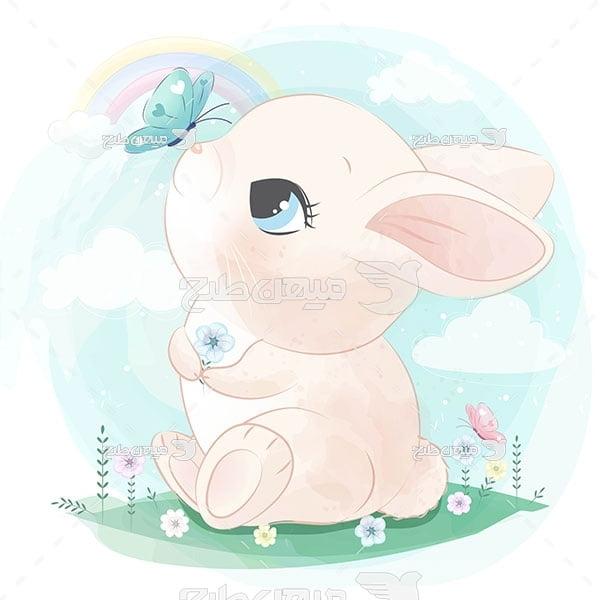 وکتور خرگوش کارتونی
