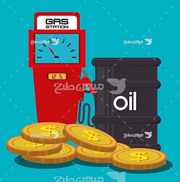 وکتور نفت طلای سیاه