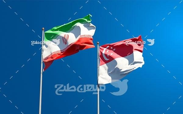 عکس پرچم ملی ایران ترکیه