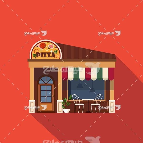 وکتور پیتزا فروشی