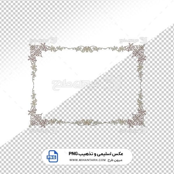 عکس برش خورده اسلیمی و تذهیب حاشیه با طرح از گل