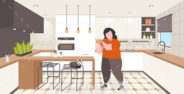 وکتور دکوراسیون  آشپزخانه