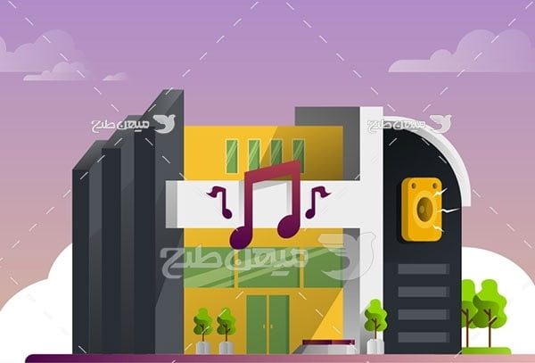 وکتور استودیو موسیقی