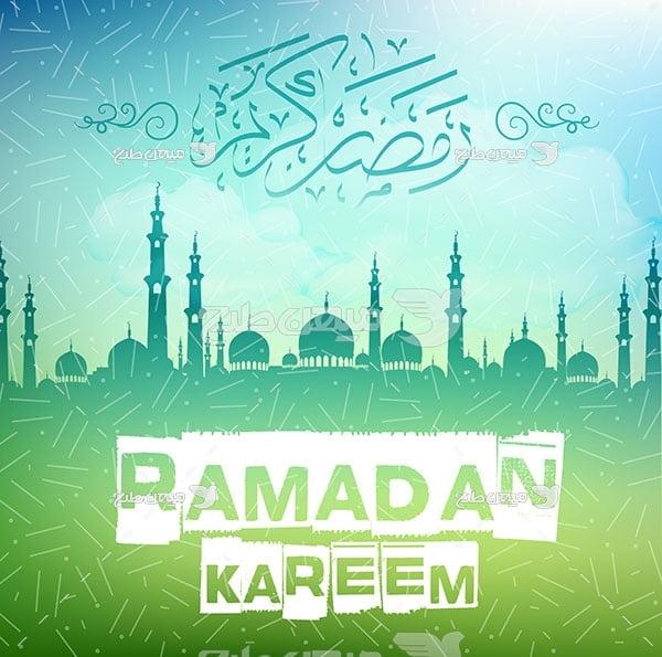 وکتور رمضان ماه بندگی