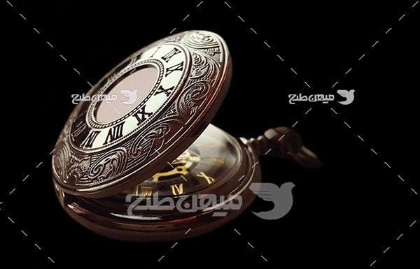 عکس ساعت جیبی طرح دار