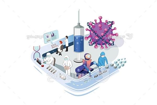 وکتور ساخت واکسن کرونا