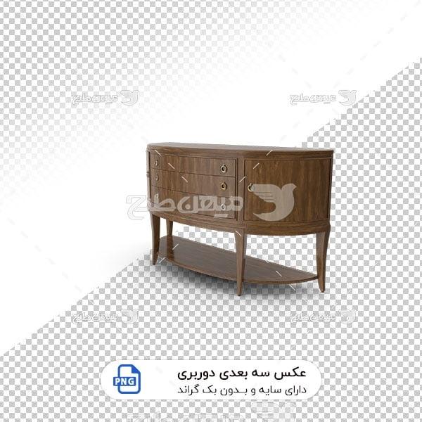 عکس برش خورده سه بعدی میز زیر آینه ای