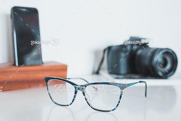عکس عینک طبی دوربین