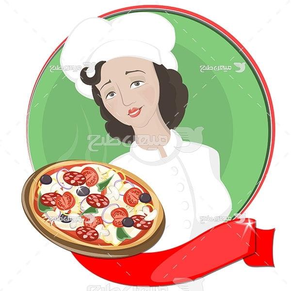وکتور آشپز زن