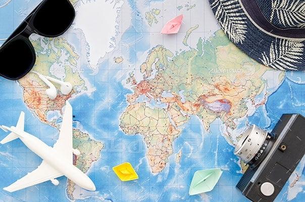 عکس تبلیغاتی مسافرت هوایی و گردشگری