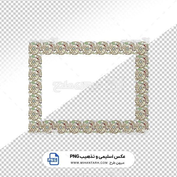 عکس برش خورده اسلیمی و تذهیب حاشیه قاب گل های ظریف