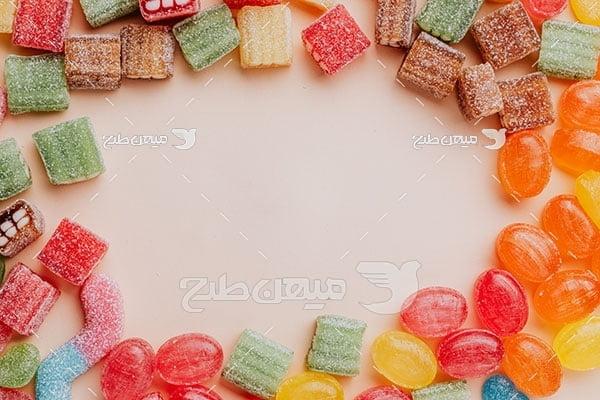 عکس آبنبات و شکلات