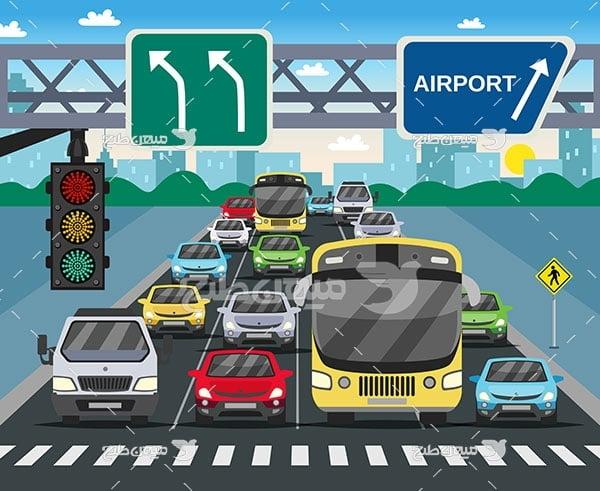 وکتور تقاطع چراغ راهنمایی و رانندگی