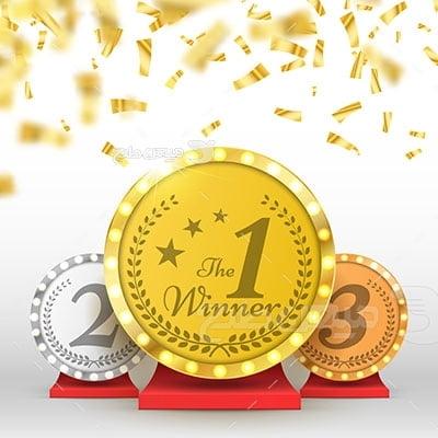 وکتور ورزش و مدال طلا