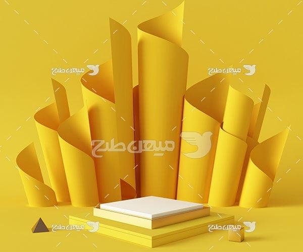 عکس بک گراند مدل مینیمال زرد