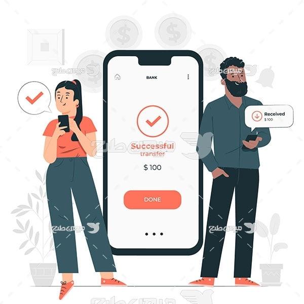 وکتور پرداخت با تلفن همراه