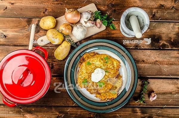 عکس تبلیغاتی غذا کوکو سیب زمینی