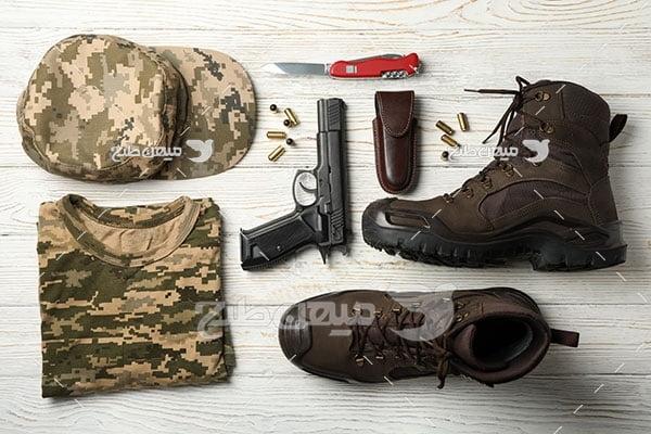 عکس تجهیزات انفرادی سرباز
