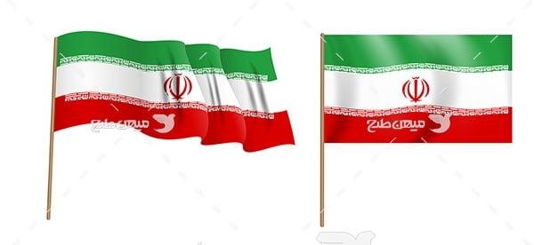 وکتور پرچم کشور اسلامی ایران
