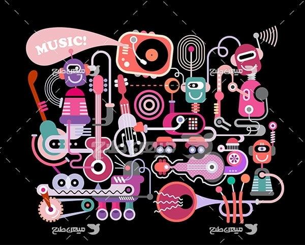 وکتور موسیقی و آلات موسیقی