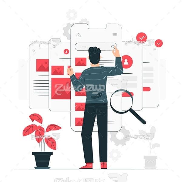 وکتور کار با شبکات اجتماعی