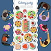 وکتور پذیرایی غذا در مهمانی