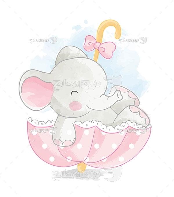 وکتور کاراکتربک گراند طرح نقاشی فیل