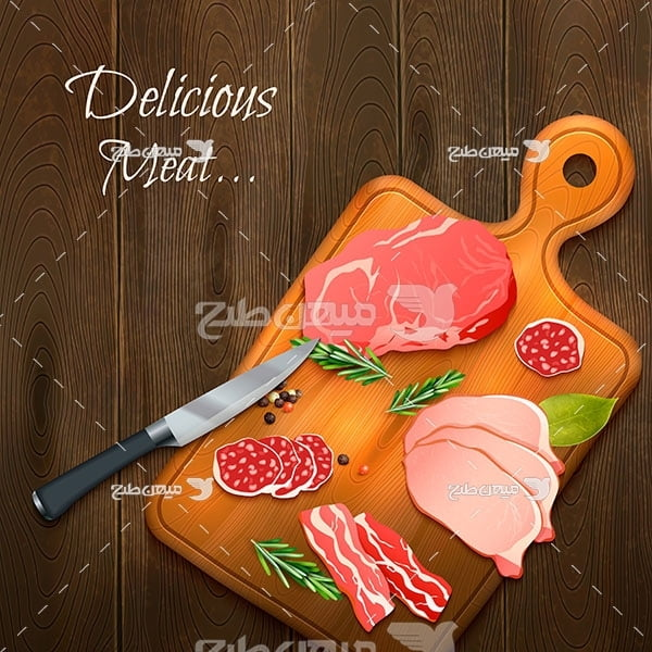 وکتور خوراک گوشت