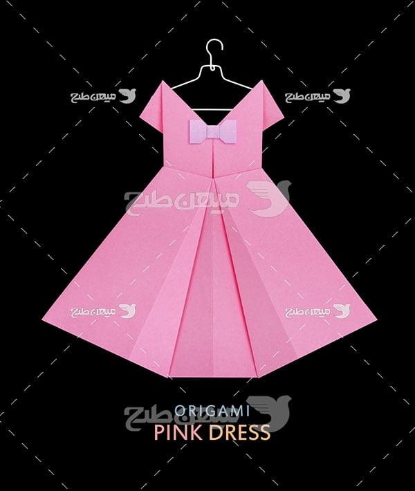 عکس تبلیغاتی مد لباس اوریگامی
