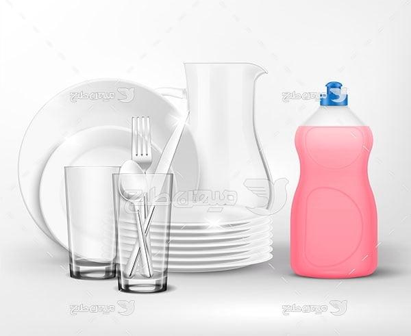 وکتور مایع ظرفشویی