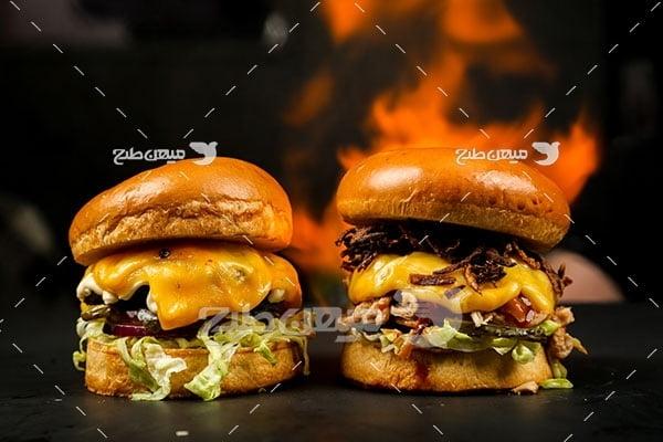 عکس ساندویچ همبرگر