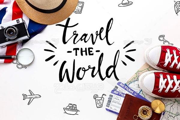 عکس تبلیغاتی مسافرت دور دنیا و گردشگری
