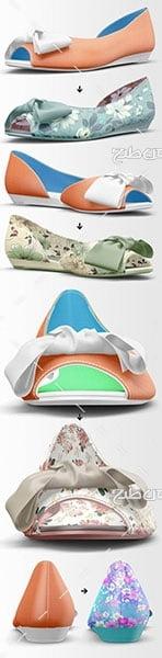 موکاپ کفش زنانه