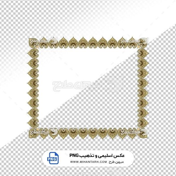 عکس برش خورده اسلیمی و تذهیب قاب با طرح قلبی شکل