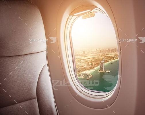 عکس تبلیغاتی مسافرت و هواپیما