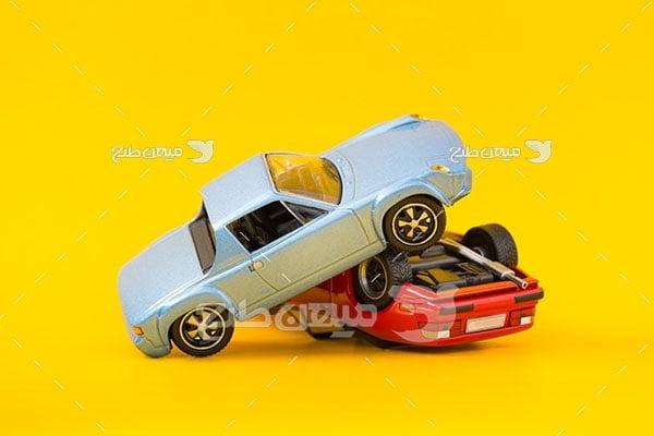 عکس تصادف اتومبیل