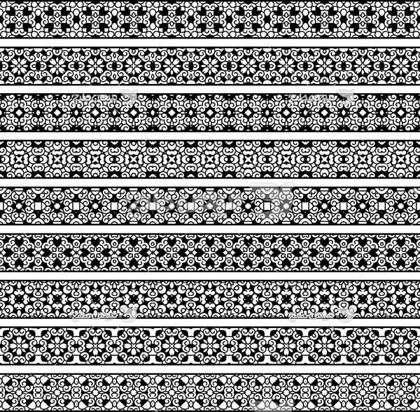وکتور حاشیه اسلیمی و تذهیب طرح خاکستری