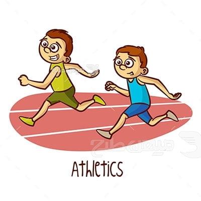 وکتور ورزش و دو و میدانی نوجوانان