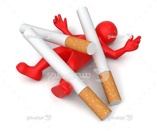 عکس مرگ بر اثر اعتیاد به سیگار