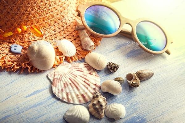 عکس مسافرت و عینک آفتابی