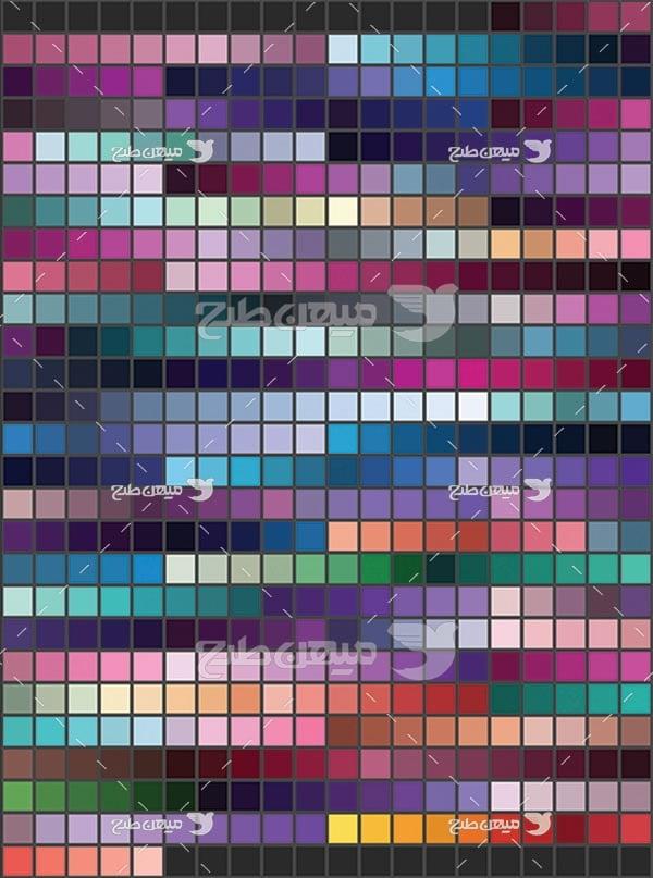 مجموعه ابزارهای فتوشاپ کد رنگ آبی و بنفش