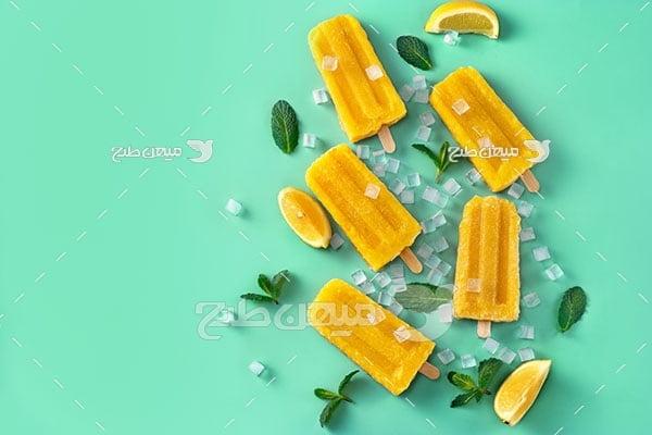 عکس بستنی لیمویی