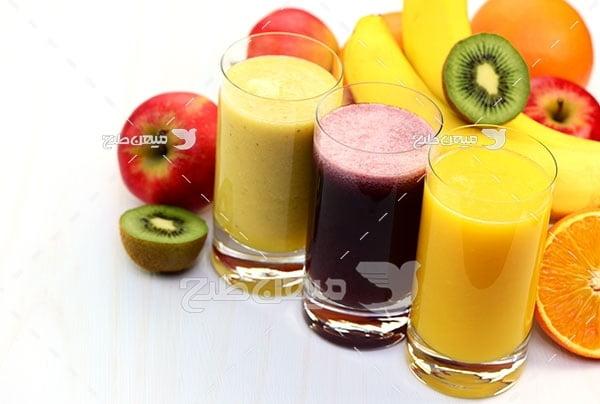 عکس انواع میوه و آبمیوه