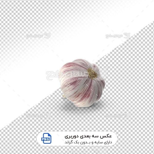عکس برش خورده سه بعدی سیر