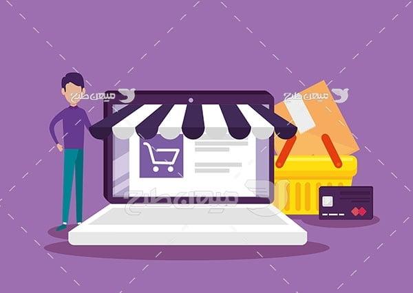 وکتور خرید و فروش آنلاین