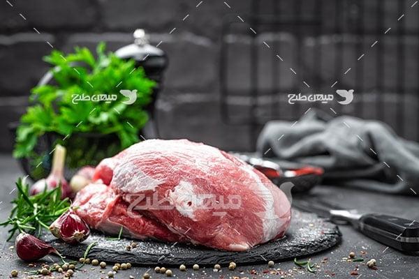 عکس گوشت گاو