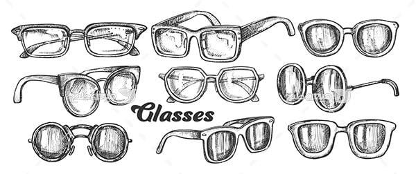 وکتور انواع عینک