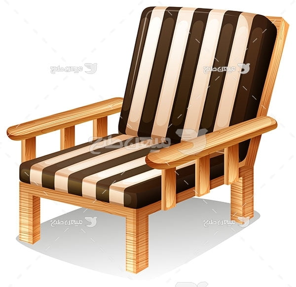 وکتور صندلی راحتی چوبی